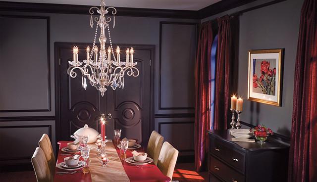 Elegant Dining Room Crystal Chandelier Traditional