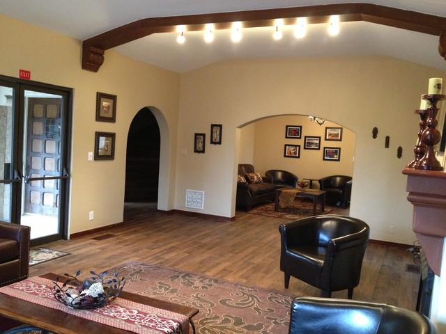 1928 Spanish Style Traditional Family Room Los