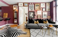My Houzz: Rugs Define Living Spaces in a 750-Square-Foot ...