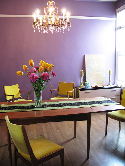 Midcentury modern dining room by Kimball Starr Interior