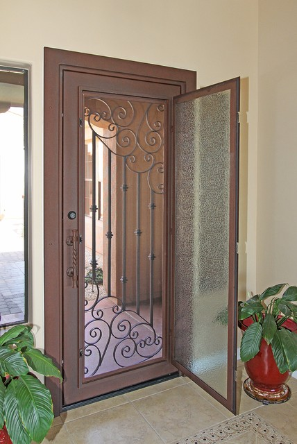 Custom Swirl Iron Entry Door By First Impression Security