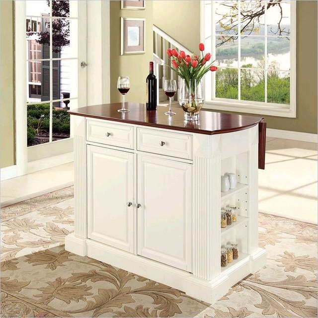 crosley kitchen islands cabinet diagrams coventry island breakfast bar in white ...