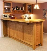 Custom Oak Basement Bar - Traditional - Home Bar ...