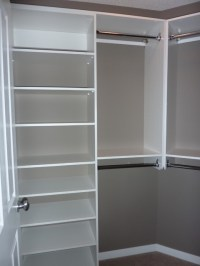 Simple design for spare bedroom - walk-in (note angled ...
