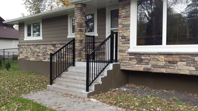 Front Step Railings Modern Porch Other By Best Price Railing   Exterior Handrails For Concrete Steps   Stair   Backyard   Cool   Side Entrance   Old House Porch