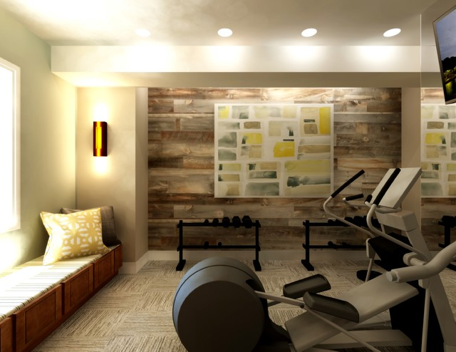 Glass Gym Saveemail 15 Contemporary Home Gym Design Photos With