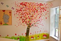 Kid's Room Abstract Tree Mural - Modern - Kids - Other ...