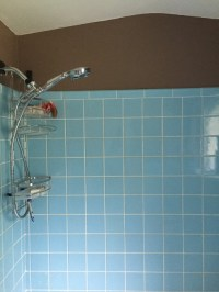 Vintage blue tile in bathroom...what color to paint walls?!