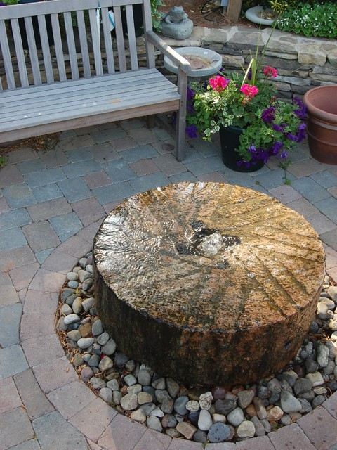 Millstone fountain  Contemporary  Patio  Raleigh  by Landvision Designs Inc