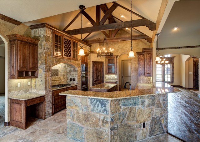 Bailee Custom Homes Rustic Kitchen Dallas By Q Home Designs