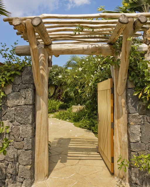 entry gate - tropical landscape