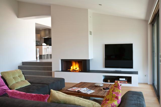 Best Salon Cheminee Contemporain Pictures  Awesome Interior Home  satellitedelightus