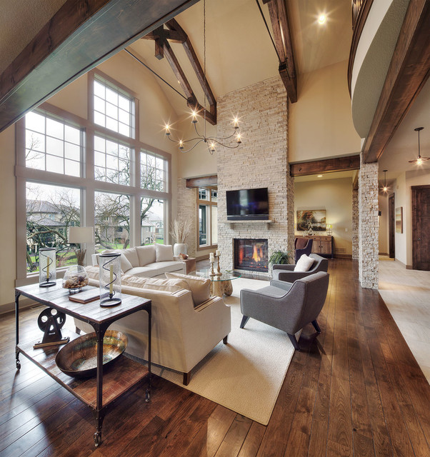 Model Home Starr Homes LLC  Rustic  Family Room