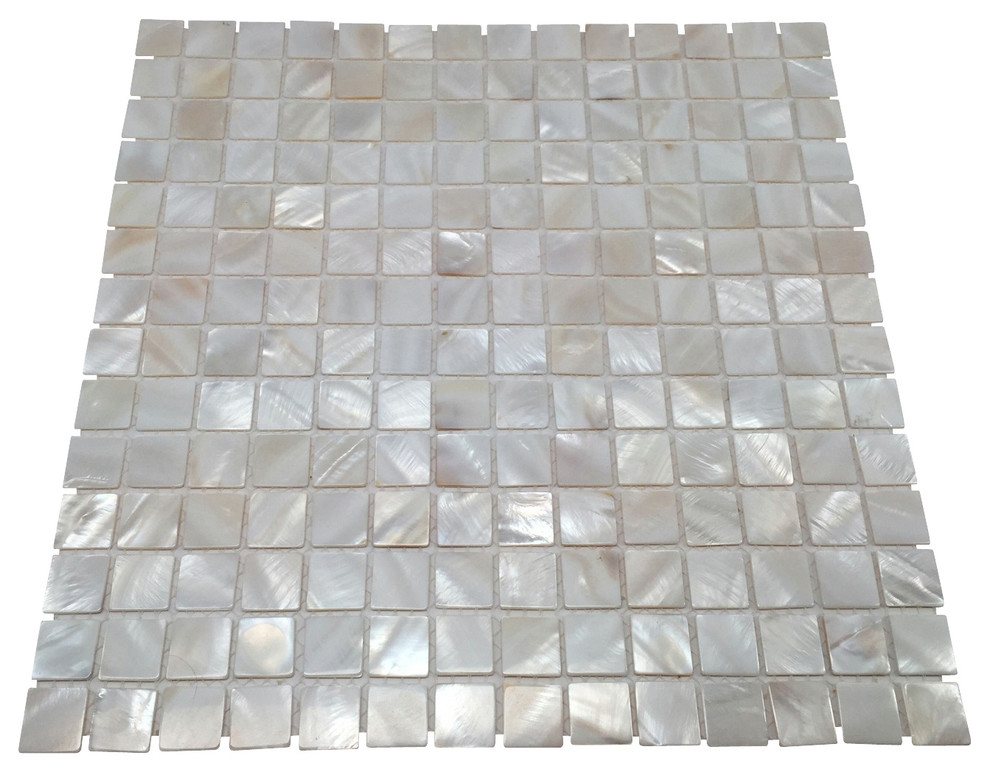 mother of pearl natural sea shell tile white 11 x11