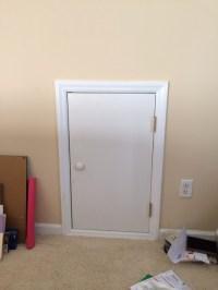 Small attic door