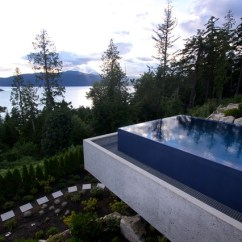 High End Kitchen Sinks Home Depot Cabinets In Stock West Vancouver - Suspended Infinity Pool Modern ...