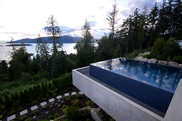 high end kitchen sinks lights over island west vancouver - suspended infinity pool modern ...