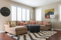 California Cool - Transitional - Living Room - Orange ...