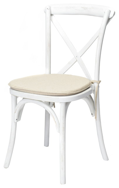 cross back dining chairs white chair sashes rustic solid wood crossback stackable with cushion farmhouse by commercial seating products