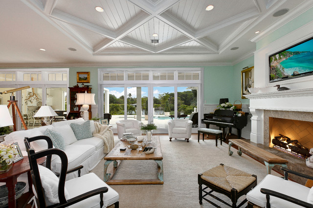 West Indies House Design  Tropical  Living Room  Miami  by Weber Design Group Inc