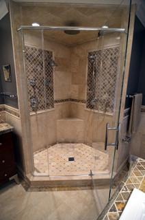 Stone Walk In Shower Mediterranean Bathroom Milwaukee By Prava Design Build