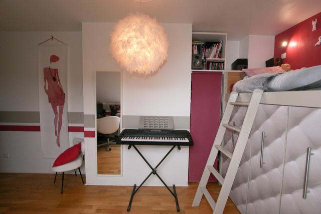 Dcoration chambre adolescente  Moderne  Chambre dEnfant  Paris  par Atelier Goreti
