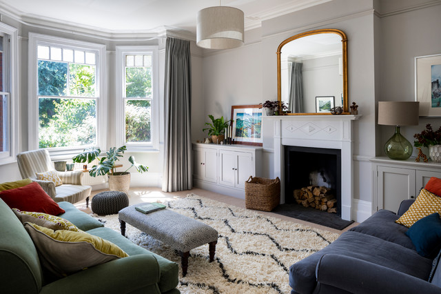 Edwardian Double Fronted House - Contemporary - Living ...