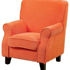 Orange Upholstered Chair Intex Pull Out Furniture Of America Greta Blue Contemporary