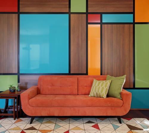 Mid-Century Modern Art Wall - Aliso Viejo