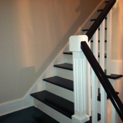 Cape Cod Style House Living Room Decorating Ideas For Apartment Creative Idea- Painting Stair Treds - Traditional ...
