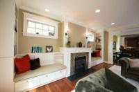 Fireplace, Windows and Window Seat - Craftsman - Living ...