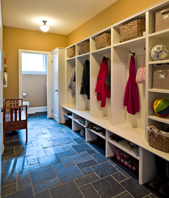 mudroom with slate floor  Traditional  Entry  Ottawa