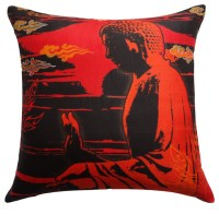 Shop Houzz | Vintage Maya Peace Silk Pillow Cover ...