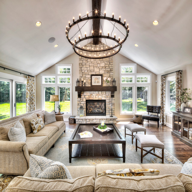 Home Addition American Traditional Living Room Kansas City