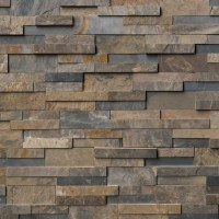 Rustic Gold Slate Stacked Stone Splitface Panels, 6x24