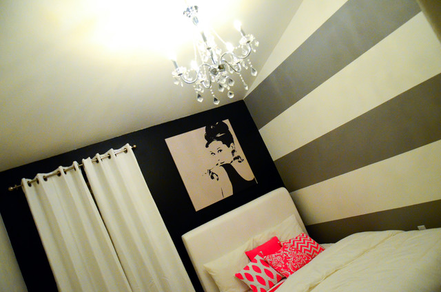 Audrey Hepburn inspired bedroom  Contemporary  Bedroom