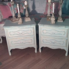 5 Piece Kitchen Table Set Home Depot Faucets Moen Beach Cottage Aqua Nightstands Painted Distressed ...