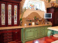 Stained Glass Cabinets and Windows - Traditional - Kitchen ...