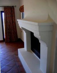 Santa Barbara style Spanish Fireplace Mantel