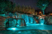 Mountain Mine-Themed Pool With Waterfalls, Slide and More ...