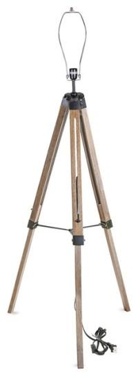 Old Wood Tripod Floor Lamp Stand - Industrial - Floor ...