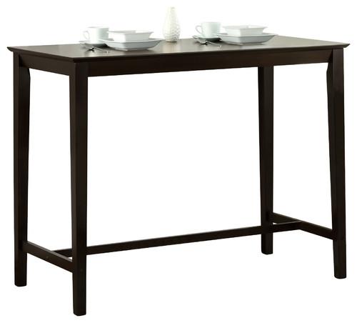 "Cappuccino Oak Veneer 24""x48"" Counter Hght Kitchen Table"