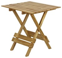 Quick Folding Small Table Made Of Solid Wood, Natural