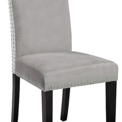 High Back Grey Velvet Dining Chairs Best Stadium For Bleachers Sunny Chair Set Of 2 Transitional By Home Gear