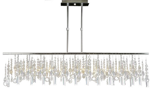 Modern Contemporary Broadway Linear Crystal Chandelier Lamp Chandeliers