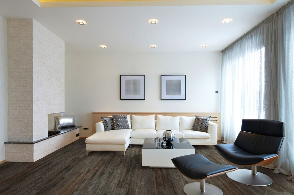 Luxury Vinyl Tile   Modern   Living Room   Other   by Carpet One Floor & Home   Asheville
