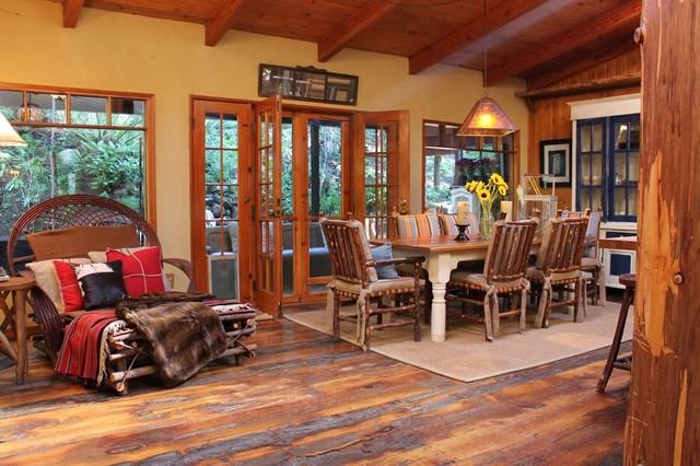 Adirondack Style Lodge  Rustic  Dining Room  Los