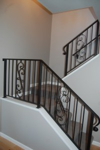 Wrought Iron Stair Rails - Traditional - Staircase - Seattle