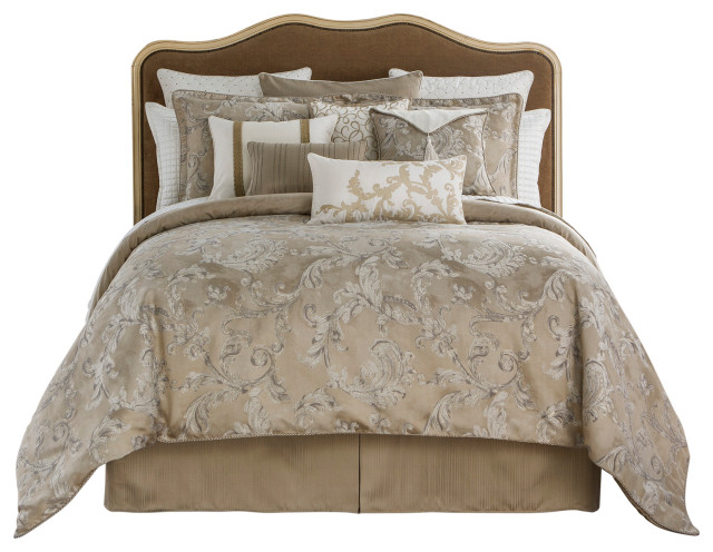 chantelle taupe comforter set king