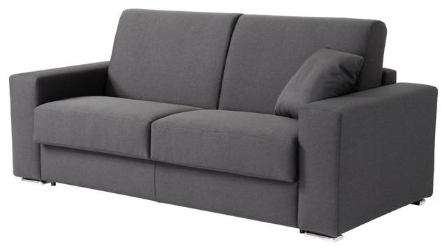 Zeph Italian Modern Sofa Bed With Full Size Mattress Dark Gray Sleeper